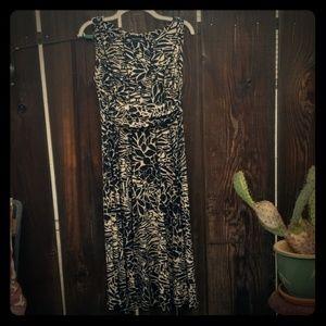 Black and beige animal print dress